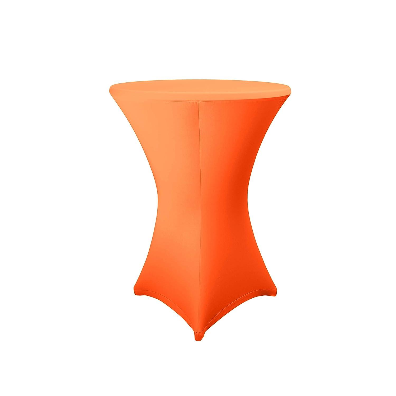 Expand, telo di copertura per tavolini di diametro da 60- 85cm, di ottima qualità, rivestimento stretch per tavolini bar, bistrot, Poliestere, bianco, Ø 60-65 cm Expand Stretch Covers