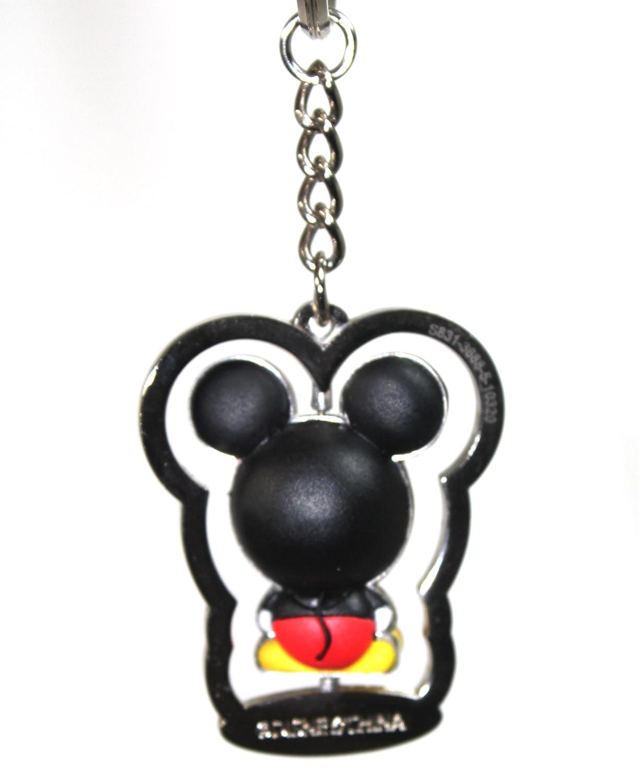 Amazon.com: Parques Disney Mickey Mouse llavero de metal con ...