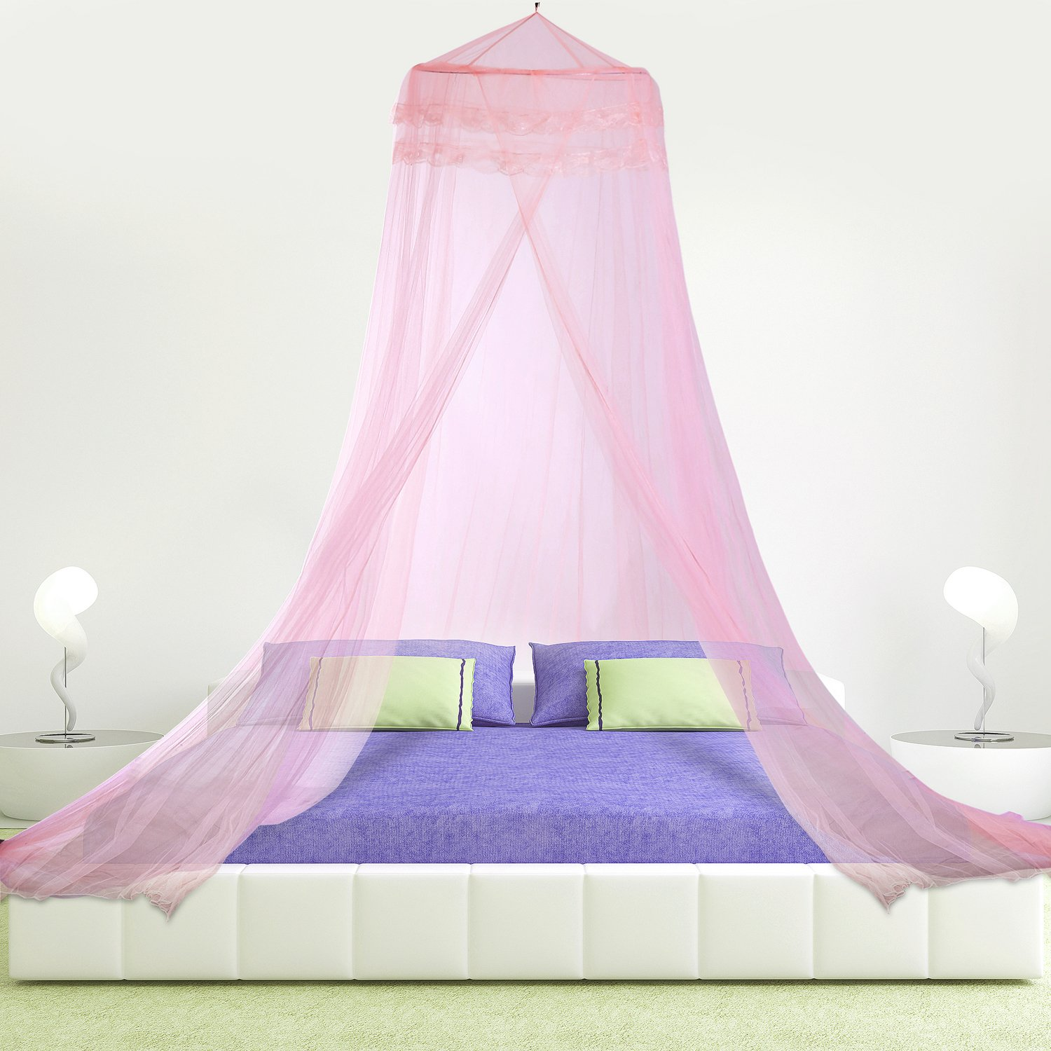 HIG Mosquito Net Bed Canopy Lace Dome, Full, White COMIN18JU012793