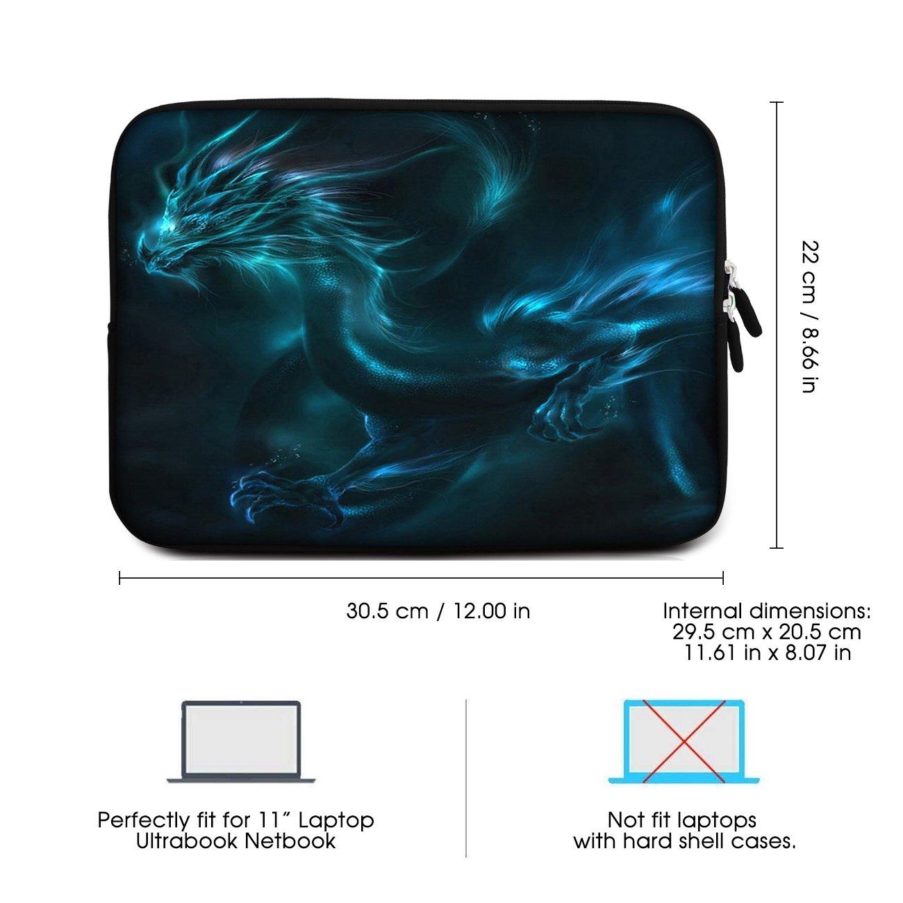 Sidorenko 11,6 Pulgada Funda Laptop para MacBook/Chromebook | Funda para computadora de Neopreno | Funda con Cremallera Duradera Protección de 3 Capas, ...