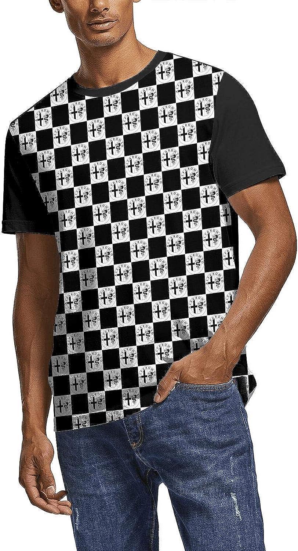 Men Cool T Shirt Alfa-Romeo-Giulia-car-SUV-Blue- All Over Print Crewneck Short Sleeve Tee