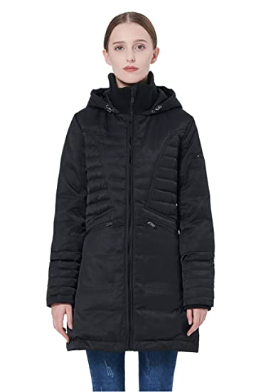 06719d2a9 Orolay Women's Puffer Thickened Down Jacket Winter Hooded Coat