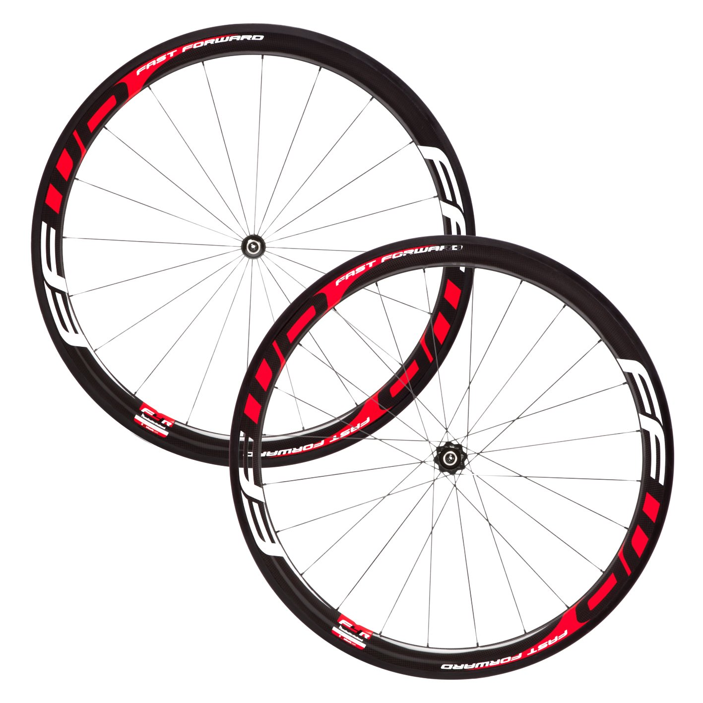 FFWD(ファストフォワード) F4R(45mm) FCC DT180 Carbon Ceramic Hub Clincher(クリンチャー ) Wheelset(ホイールセット) - Red/White [Shimano/Sram 11S] [並行輸入品] B071JXFKR1