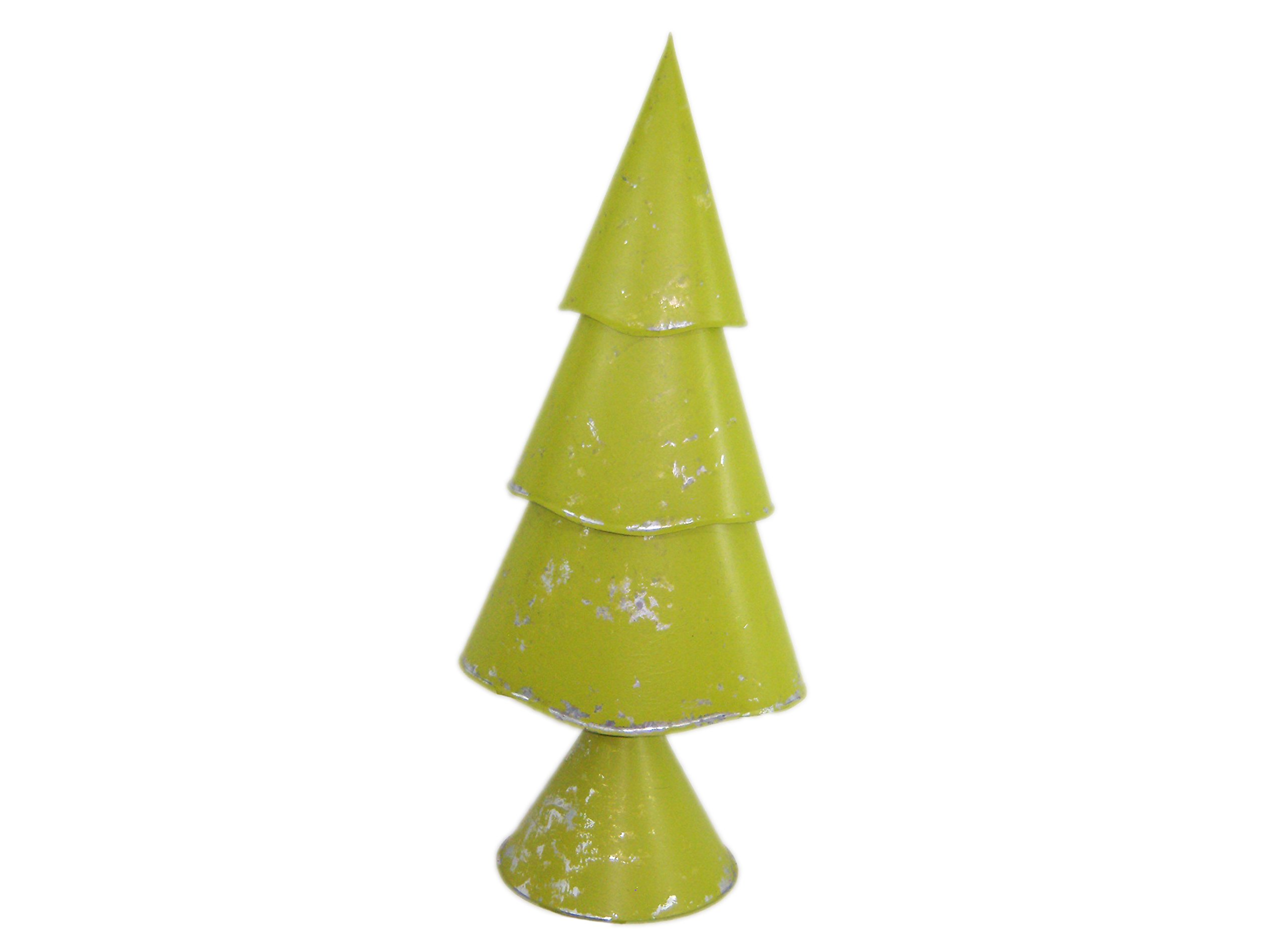 Large Lime Green Three-Tier Christmas Tree