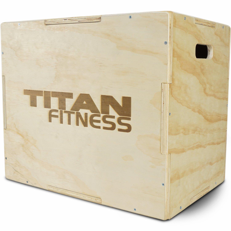 【高知インター店】 Titan Fitness 3 in 1 木製プライオメトリックボックス HDプライオジャンプエクササイズ トレーニング 24