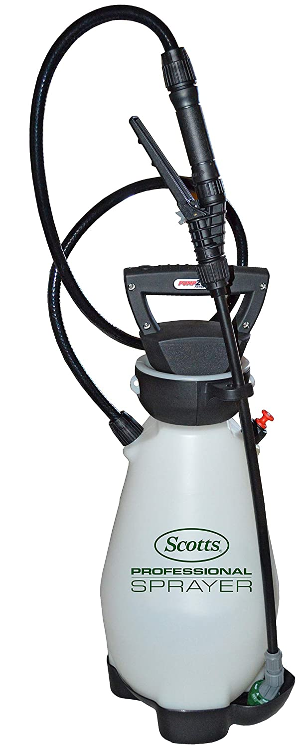 Scotts 190567 Lithium-Ion Battery Powered Pump Zero Technology Sprayer, 2 Gallon White