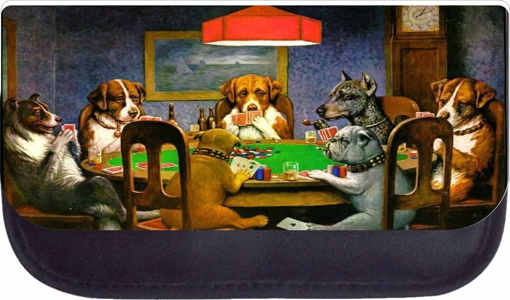 Dogs Playing Poker School Backpack and Pencil Case Set