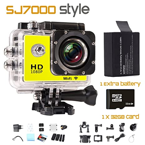 Generic as picture show, standard : Mini Wifi Camera Camcorders SJ 4000 2.0Inch Full HD Wireless Sport Action 1080P Camera 12MP Go diving waterproof p