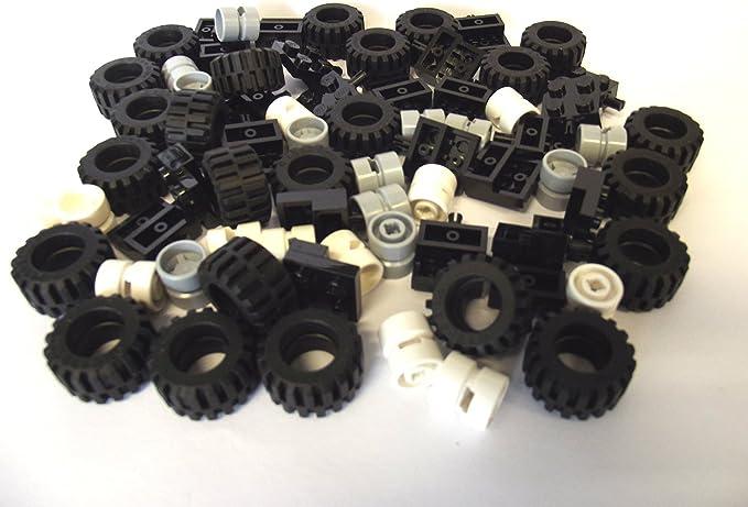 Lego 2x wheel rim wheel radius Tire Wheelchair Chair 24314c01 NW