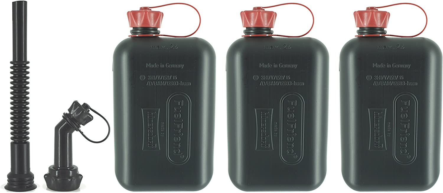 3 pieces for a special price spout-kit 2.0 liters Jerrycan with UN approval FuelFriend/®-BIG max