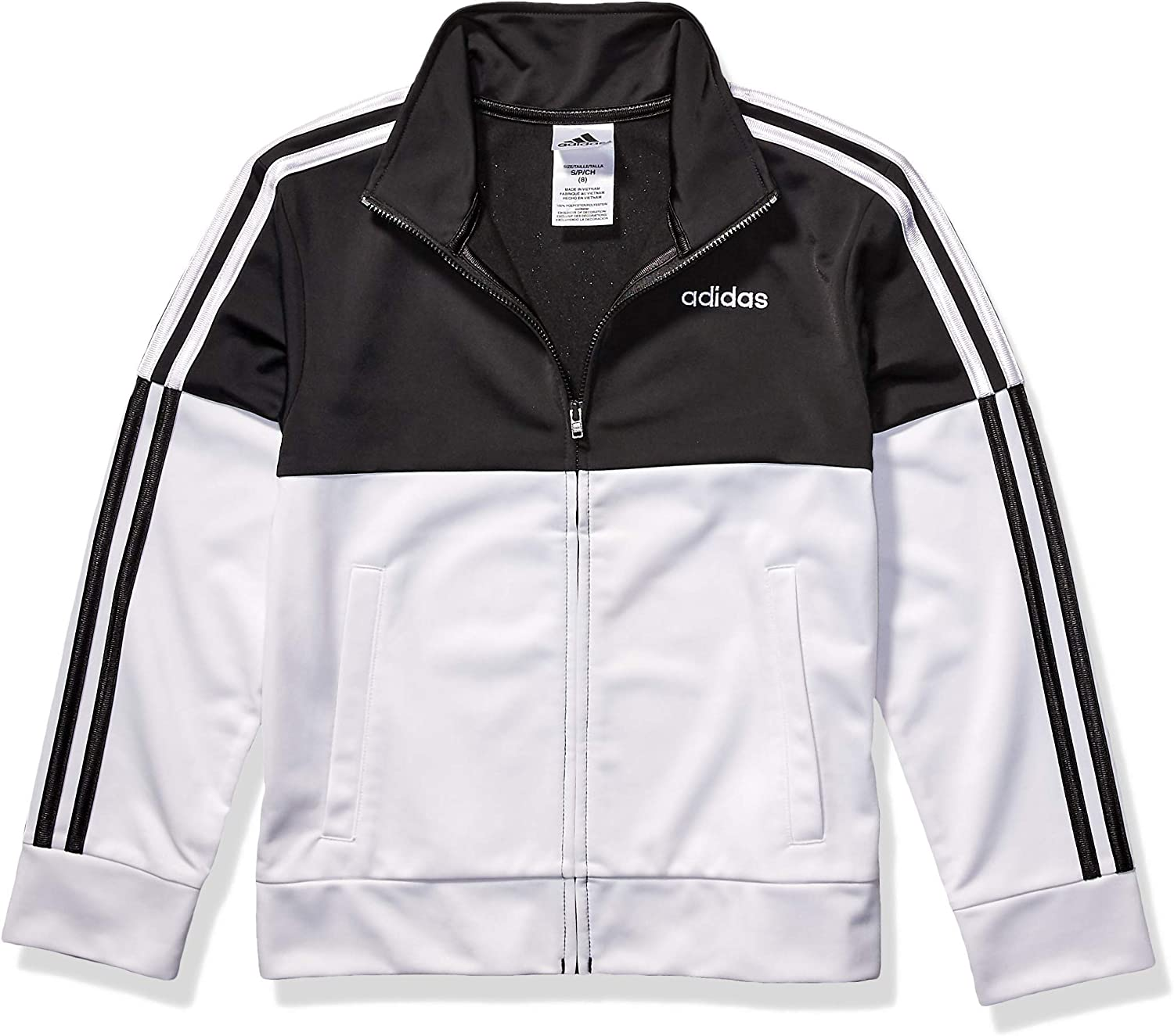 : adidas Boys' Little Colorblock Tricot Jacket