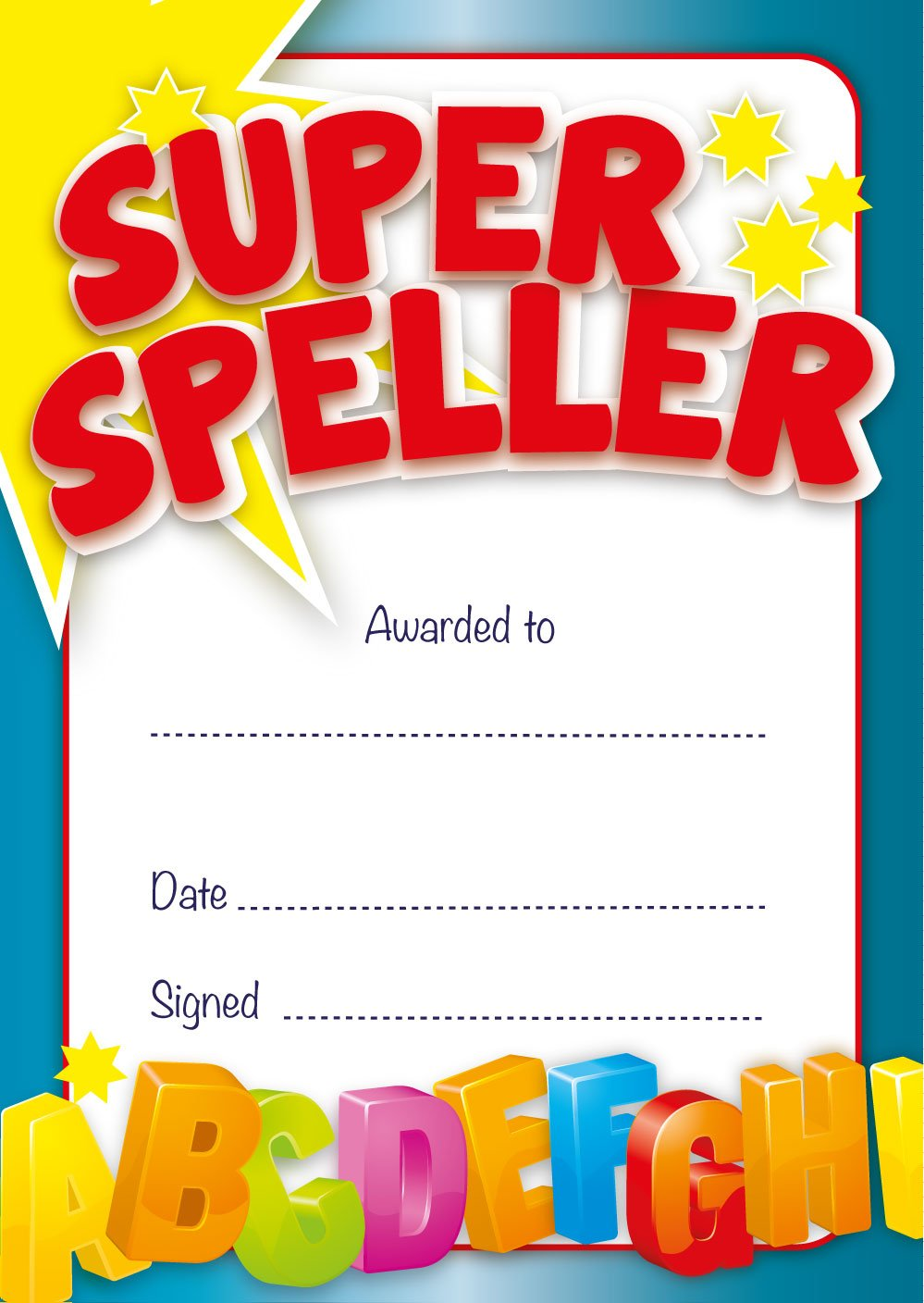 Super speller certificate teacher or parents rewards amazon super speller certificate teacher or parents rewards amazon office products 1betcityfo Image collections