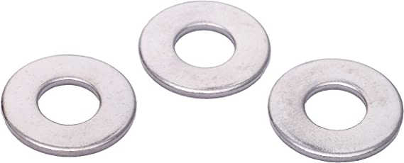1//4 x 5//8 OD Chrome Coated Stainless Flat Washer, Stainless Steel - Choose Size 18-8 by Bolt Dropper 304 100 Pack