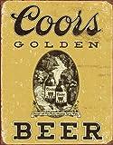 COORS Golden Vintage Tin Sign , 12x16