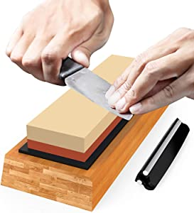 Premium Sharpening Stone Knife Sharpener Best Japanese...