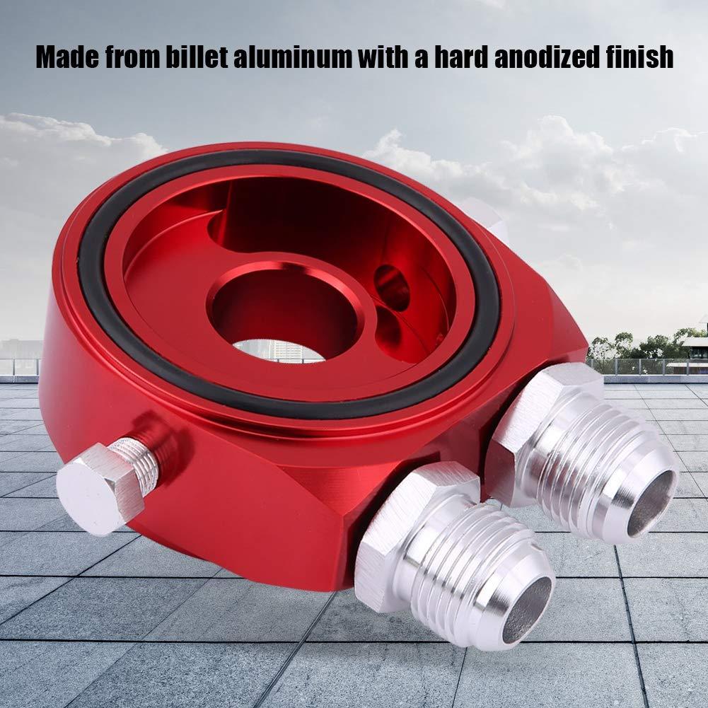 silber KIMISS Aluminium M20 x 1,5 Aluminium /Ölfilter K/ühler Sandwichplatte Adapter 1//8 NPT /Ölk/ühler Kit