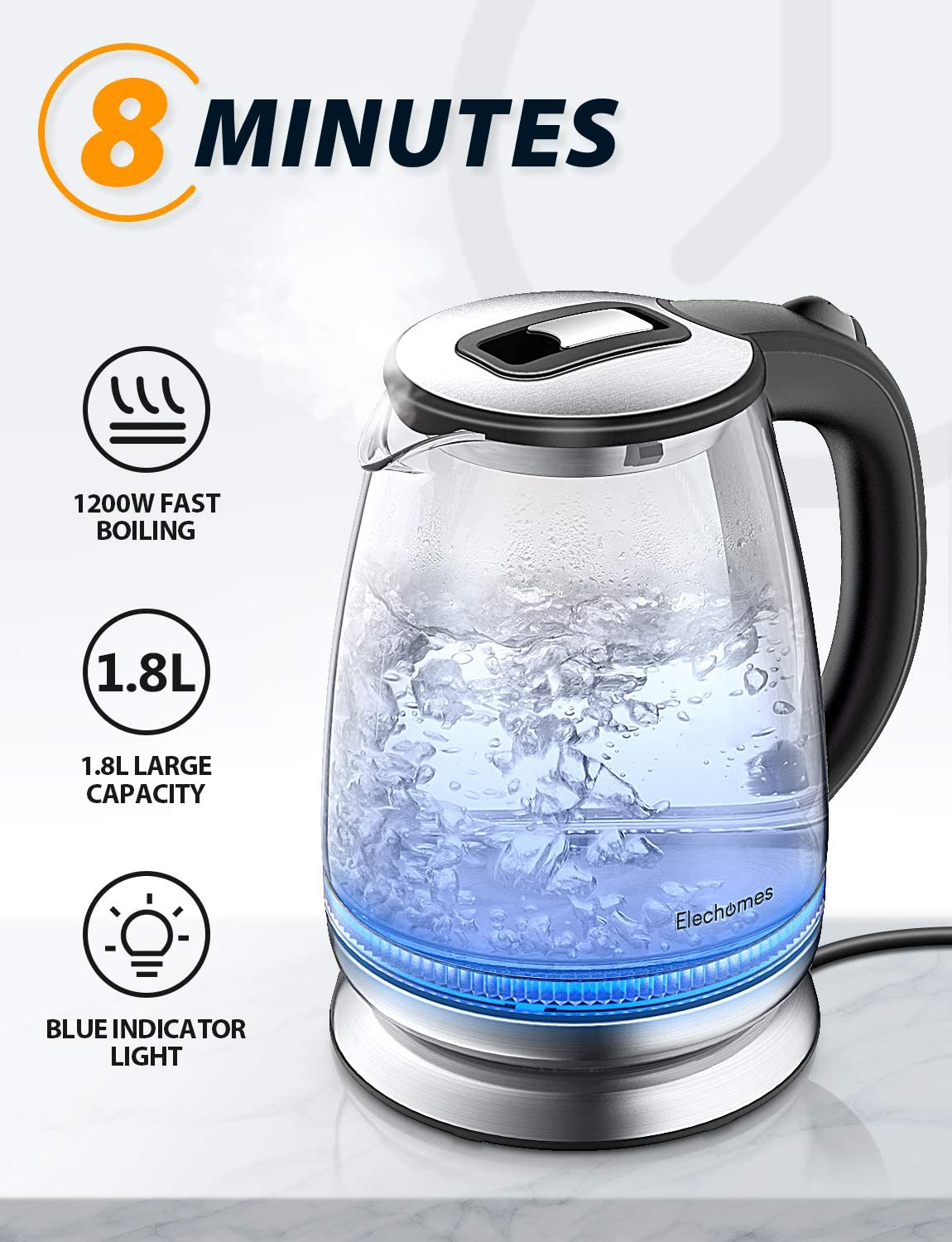 Amazon coupon code for Glass Electric Kettle with Auto Shut-Off Boil-Dry Protection