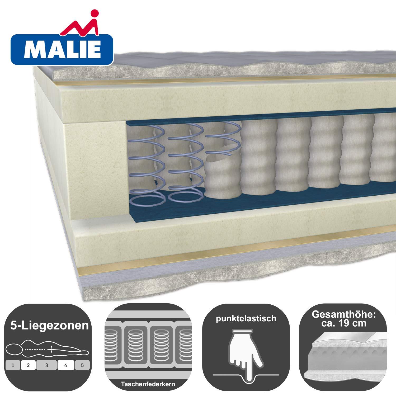 MALIE MALIE MALIE 5 Zonen Tonnen-Taschenfederkernmatratze Polar, H 3 mittlere Matratzenhärte Malie Federkernmatratze Polar H3-90x190 d0ee7d