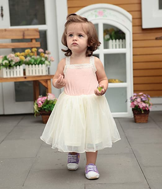 Vestido de Bebe Niña Lindo Vestido Mini Camiseta Bandolera de ...
