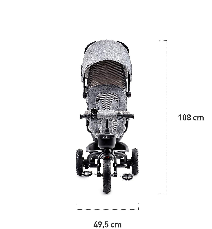 Dachfenster Jogger mit Zubeh/ör Unplattbar-R/äder Kinderkraft Dreirad 6 in 1 AVEO Gummir/äder ab 9 Monate bis 5 Jahre Kinderdreirad Rosa Klappbar Lenker Zubeh/ör