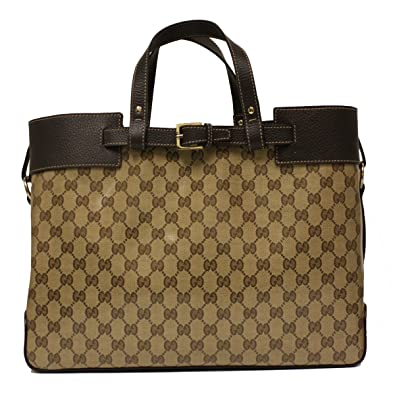 759aac1c580 Amazon.com  Gucci Crystal Coated Canvas and Leather GG Logo Tote Bag  336663  Shoes