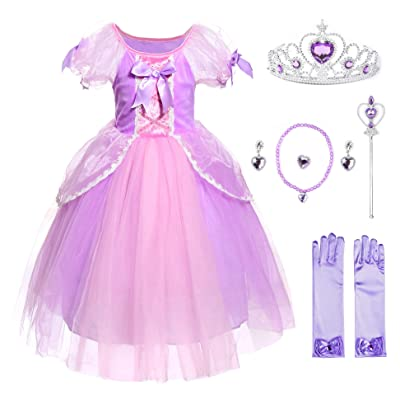 JerrisApparel Girl Princess Costume Role Cosplay Party Fancy Dress: Clothing