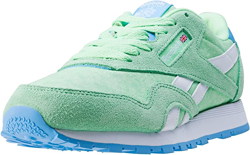 Reebok Classic Leather Washed Fille Chaussures Vert