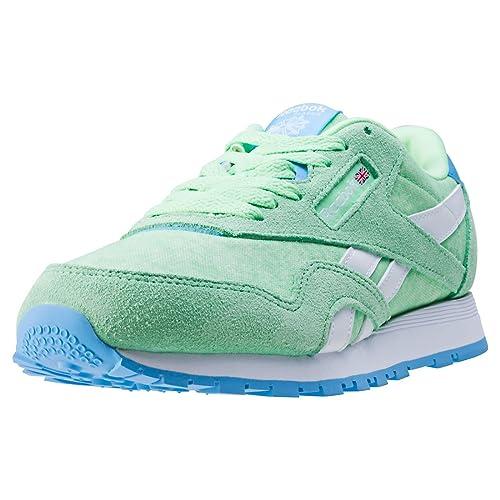 2e4caa97df57 Reebok Women s Cl Nylon Washed Sneaker Low Neck