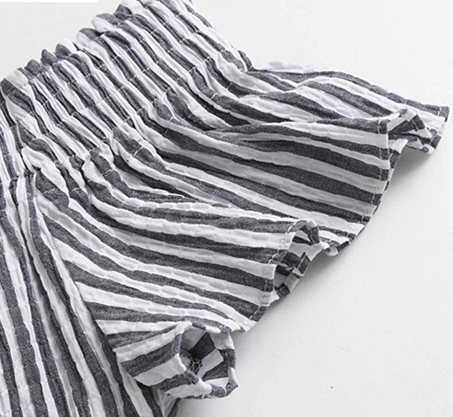 Women Casual Striped Slash Neck Playsuits Sashes Ruffles Decorate Buttons Design Female Stylish Summer Jumpsuits