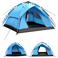 AWADUO Camping Tent, 4 Person Tent Waterproof Automatic Instant Pop Up Double Layer Backpacking Tent for Camping Hiking Picnic Traveling Outdoor Use