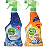 Dettol Healthy Bathroom and Kitchen Power Cleaner Trigger Spray - Pack of 2 Pieces (2 x 500ml)