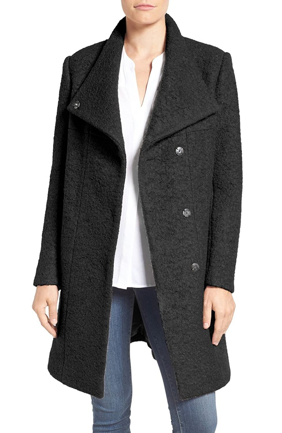 Kenneth Cole New York Women's Pressed Wool-Blend Boucle Coat