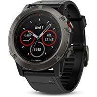 Garmin Fenix 5X Sapphire GPS & Fitness Watch (Slate Gray with Black Band)