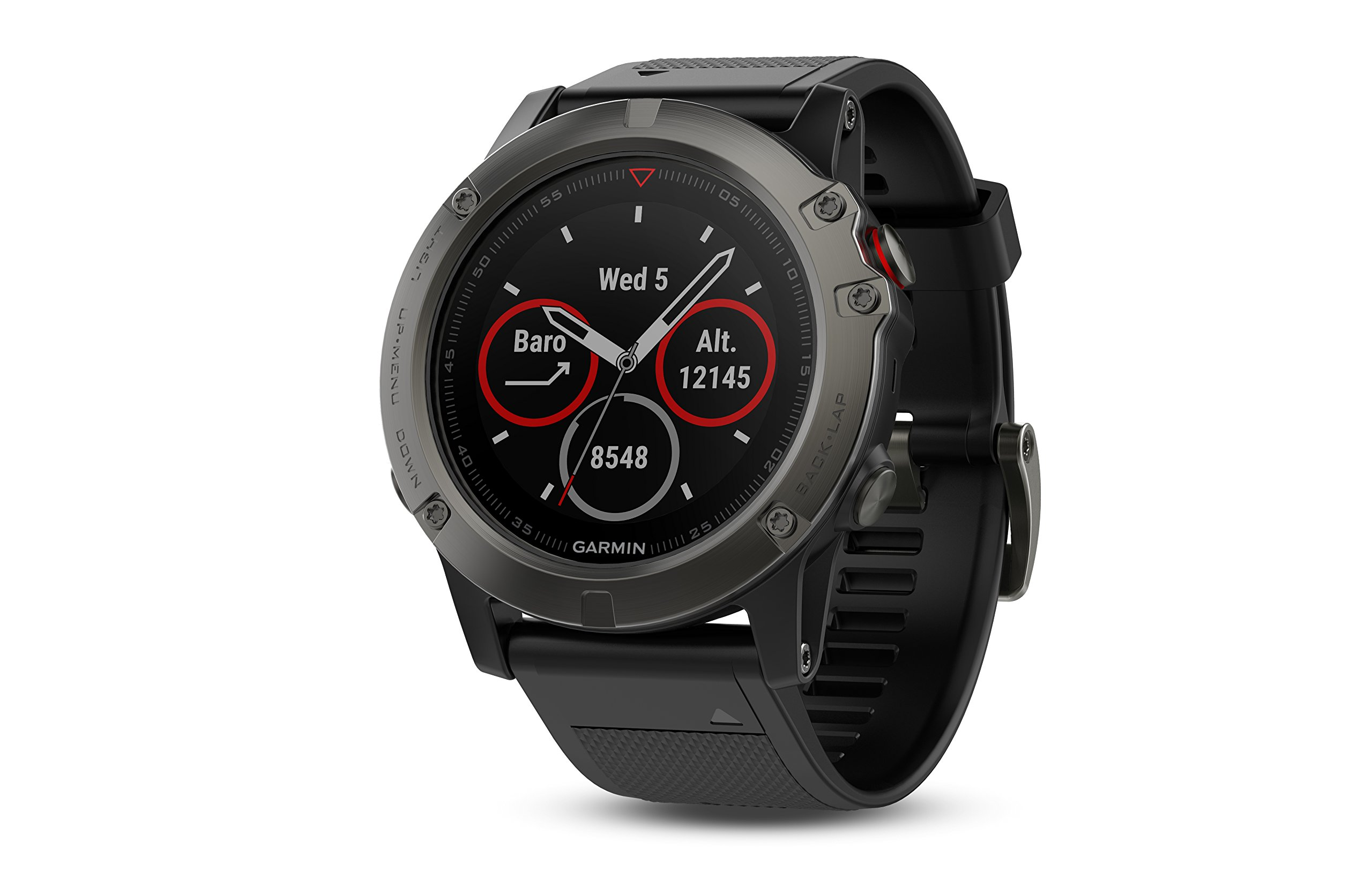 Garmin 010-01733-01 1.2'' Fenix 5X Sapphire - Slate Gray with Black Band (EMEA) by Garmin