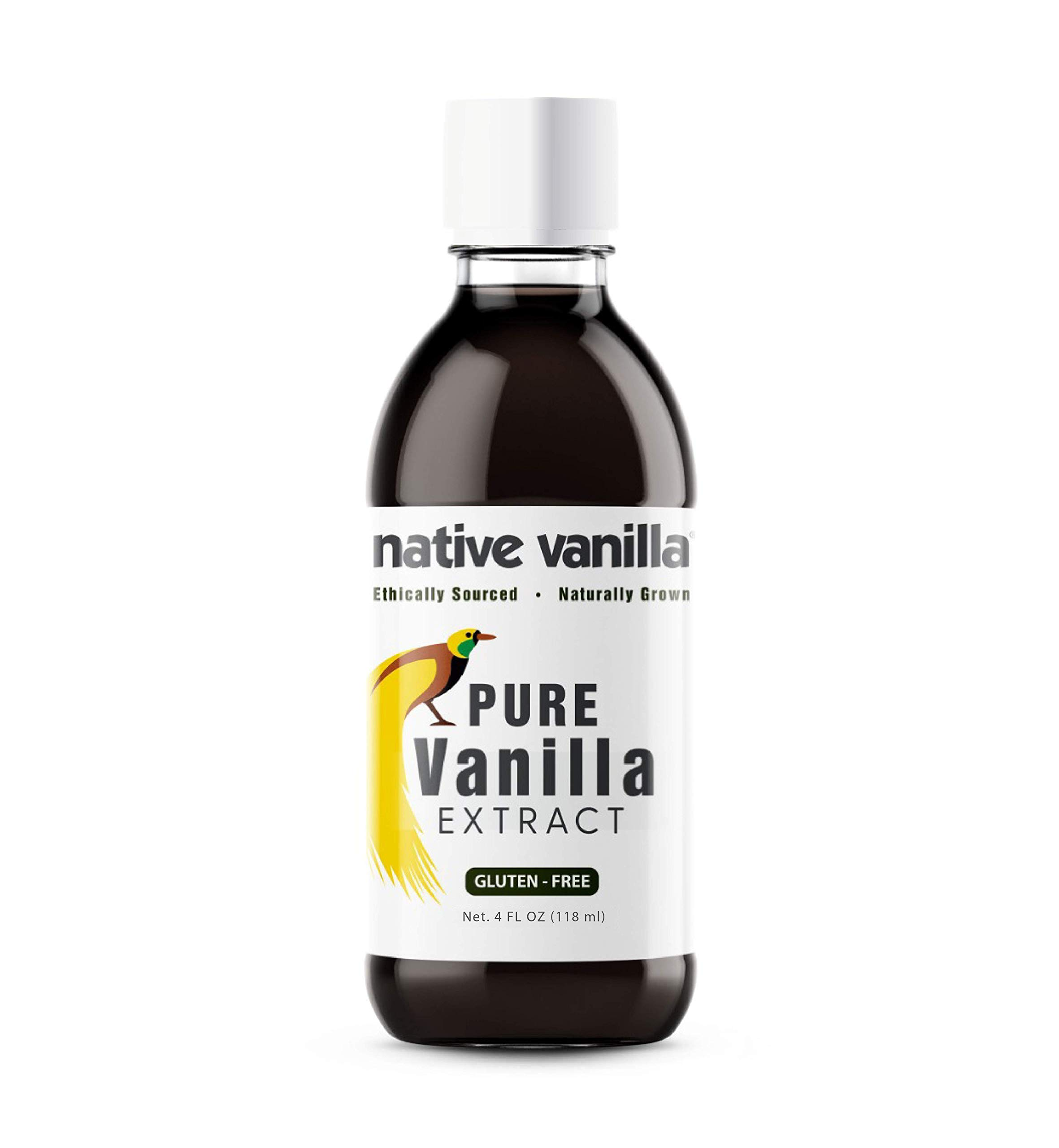 Native Vanilla - Pure Vanilla Extract – 118ml (4 oz) - Made from Premium Vanilla Bean Pods – for Chefs and Home Cooking, Baking, and Dessert Making