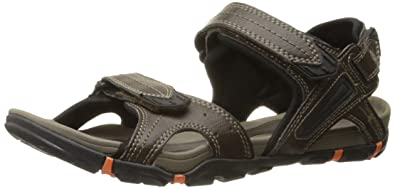 Hi-Tec Men's Altitude Lite Strap Sandal, Dark Chocolate/Black/Burnt Orange
