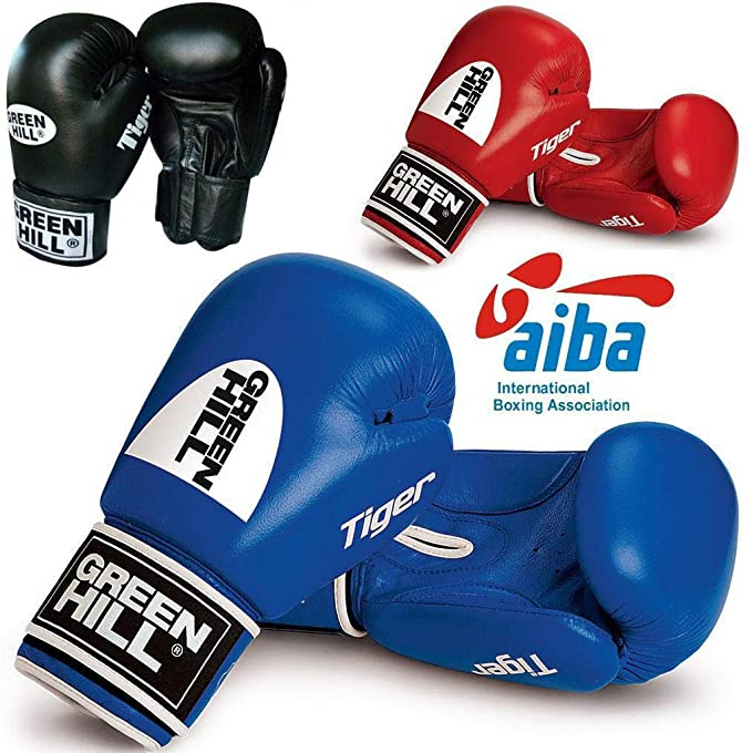 78387f0dd Green Hill AIBA APPROVED BOXING GLOVES  Amazon.co.uk  Sports   Outdoors