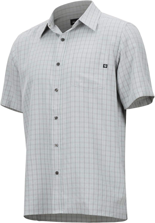 Marmot Eldridge Short Sleeve, Short Sleeve Outdoor Shirt, Hiking Shirt, With Uv Protection, Breathable Glacier Grey