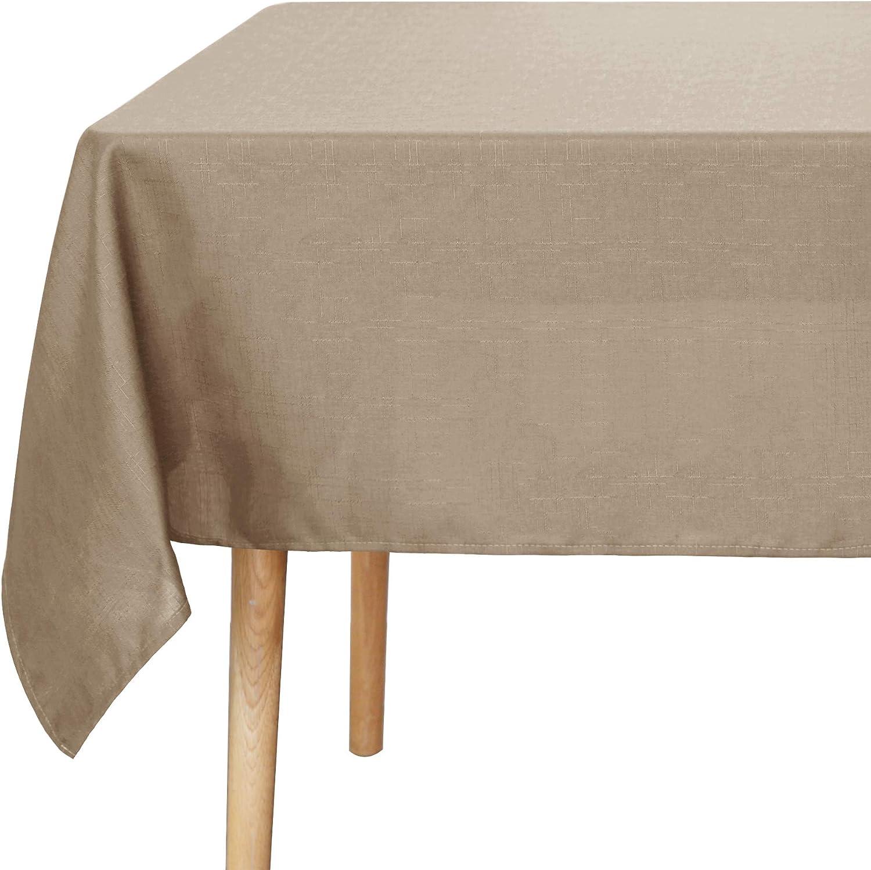 UMI Essentials Mantel Mesa Antimanchas Rectangular Impermeable para Cocina 130 x 220 cm Negro