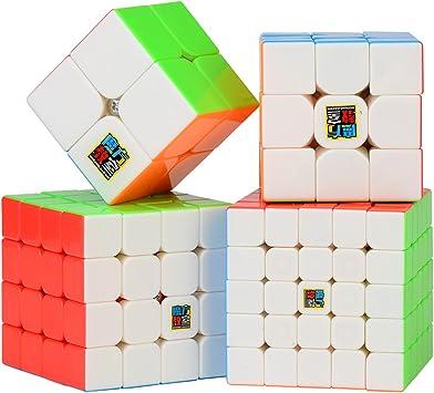 ROXENDA Cubo de Velocidad Bundle Moyu 2x2 3x3 4x4 5x5 Stickerless ...