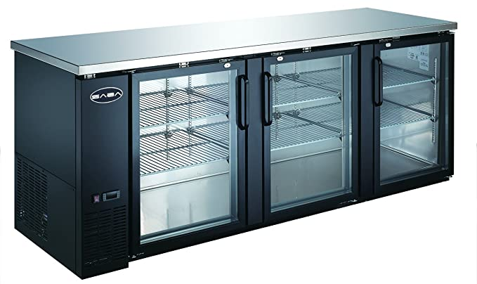 Amazon Heavy Duty Commercial Back Bar Cooler With 3 Glass Doors