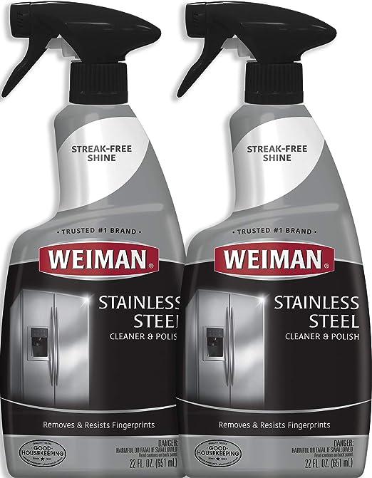 Amazon.com: Weiman Limpiador y pulido de acero inoxidable ...