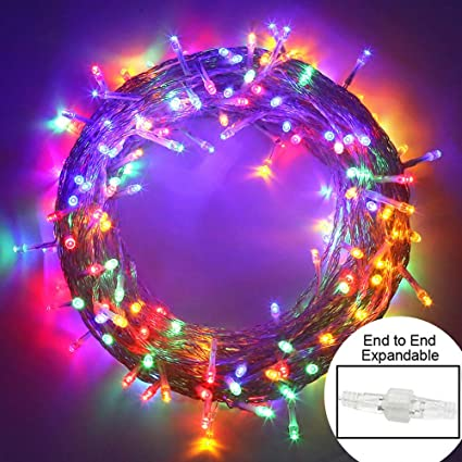 Christmas Fairy Lights Transparent.Mygoto Outdoor Christmas Led String Lights 100 Leds 10m 33ft Dimmable String Fairy Lights Transparent String 8 Modes For Bedroom Patio Garden Gate