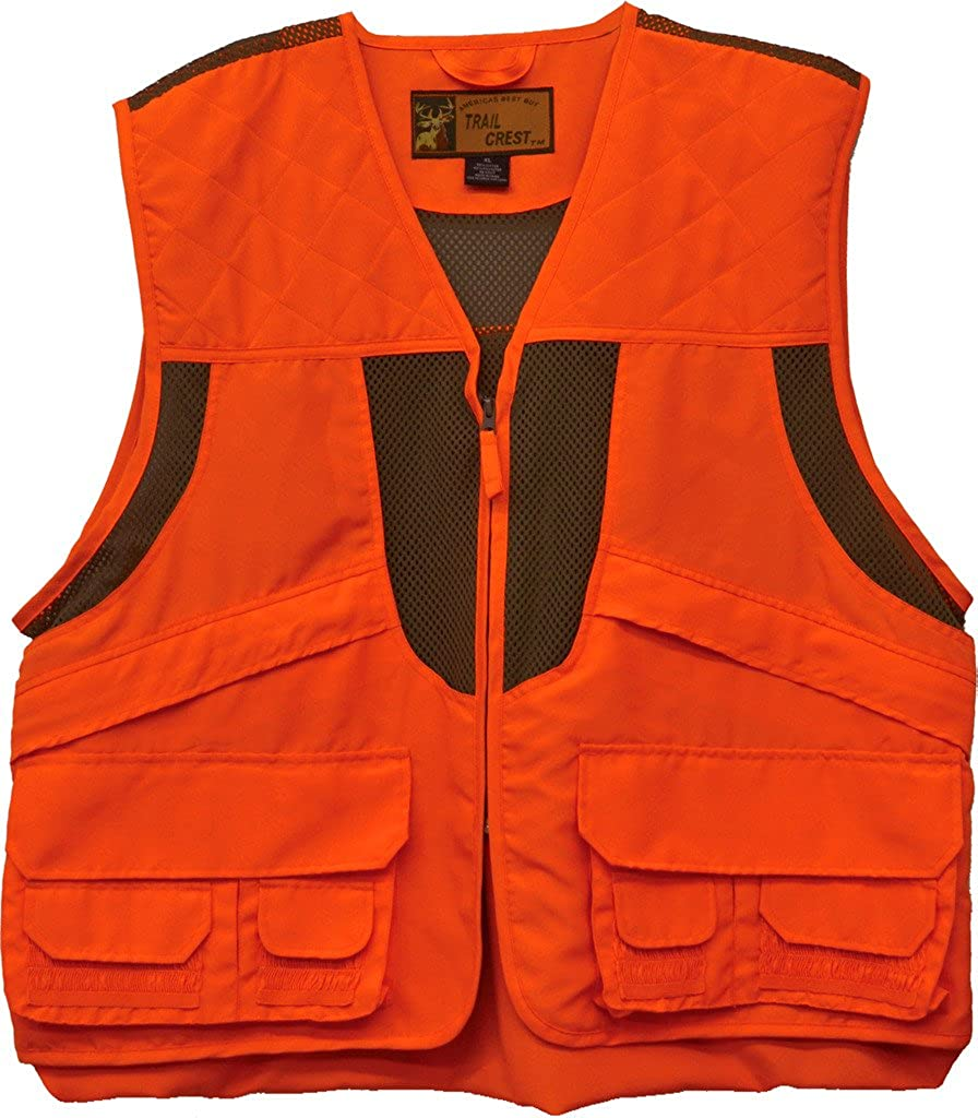 Trail Crest Kids Blaze Orange Deluxe Front Loader Hunting Vest W/ Magnet