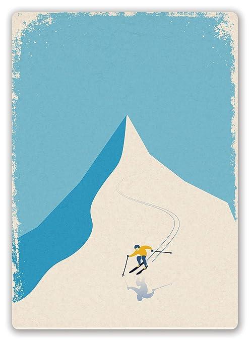 HiSign Pista de esquí Cartel de Pared de Chapa Retro Hierro ...
