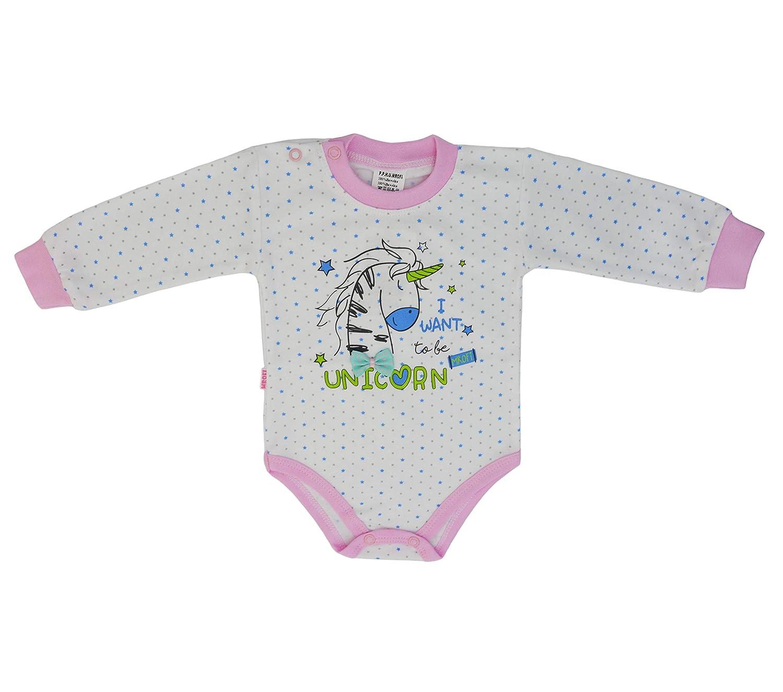 Juego de 5 Camisa Unicornio para ni/ña y ni/ño Muchos Colores Tama/ño 56 62 68 74 80 86 MROFI Body de Manga Larga con Estampado de algod/ón Unisex para beb/és