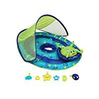 SwimWays Baby Spring Float Activity Center with Canopy - Inflatable Float for Children...