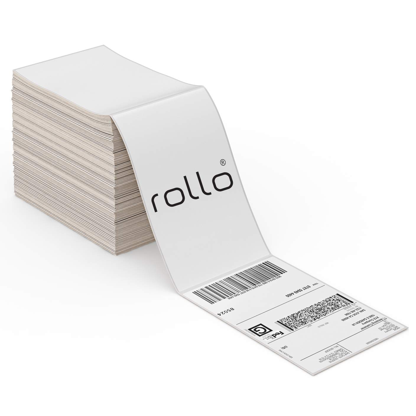 ROLLO Thermal Direct Shipping Label (Pack of 500 4x6 Fan-Fold Labels) - Commercial Grade: Industrial & Scientific
