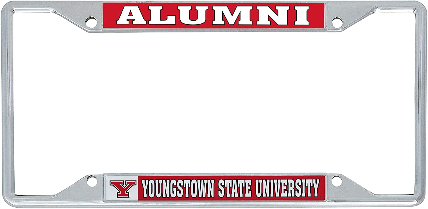 Desert Cactus Youngstown State University YSU Penguins NCAA Metal License Plate Frame for Front Back of Car Officially Licensed Alumni