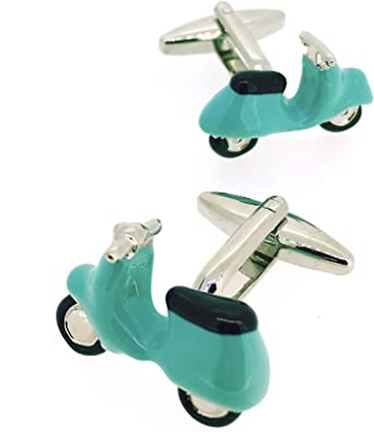 Gemelolandia   Gemelos para camisa Ciclomotor Vespa Azul ...